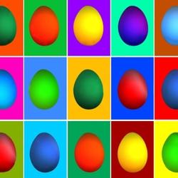 Пазл онлайн: Пасхальные яйца