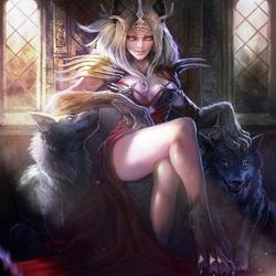 Пазл онлайн: Королева ликанов