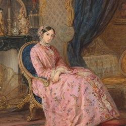 Пазл онлайн: Портрет Великой княжны Марии Николаевны