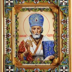 Пазл онлайн: Икона Николай Чудотворец
