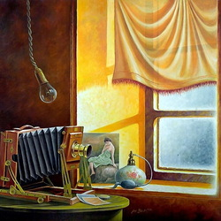Пазл онлайн: Натюрморт у окна