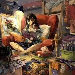 Пазл онлайн: Комната художника