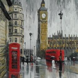 Пазл онлайн: Лондонские дожди