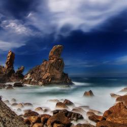 Пазл онлайн: Скалистый берег
