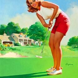 Пазл онлайн: Игра в гольф