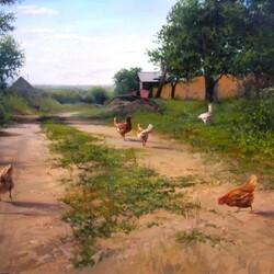 Пазл онлайн: Деревенская улочка