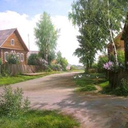 Пазл онлайн: В деревеньке