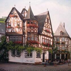 Пазл онлайн: Баварская улочка
