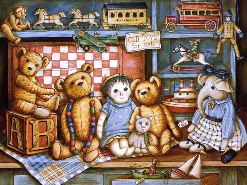 Открытки для детей игрушки