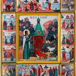 Пазл онлайн: Икона Сергия Радонежского