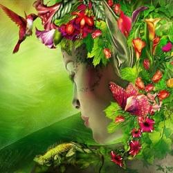 Пазл онлайн: Цветочный эльф