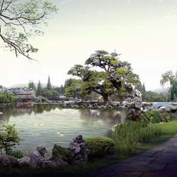 Пазл онлайн: Японский сад
