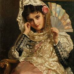 Пазл онлайн: Портрет молодой испанки
