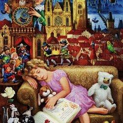 Пазл онлайн: Варюшкин сон о Праге