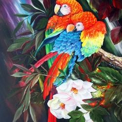 Пазл онлайн: Красно-синий ара или араканга