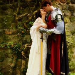 Пазл онлайн: Рыцарь и его дама