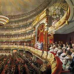Пазл онлайн: Спектакль в московском Большом театре по случаю  коронования