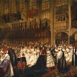 Пазл онлайн: Эдуард женится на Александре, принцессе Датской