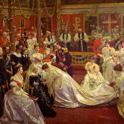 Пазл онлайн: Бракосочетание принцессы Мод и принца Карла