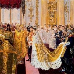 Пазл онлайн: Венчание Николая II и великой княгини Александры Федоровны