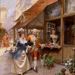 Пазл онлайн: Посещение цветочного магазина