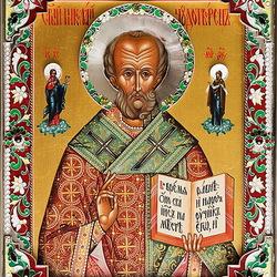 Пазл онлайн: Икона Святого Николая Чудотворца