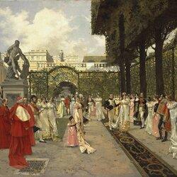 Пазл онлайн: Наполеон I и Папа Римский в Сен-Клу