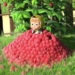 Пазл онлайн: Ягода-малина