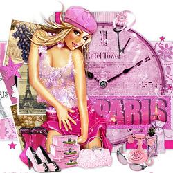 Пазл онлайн: Парижанка