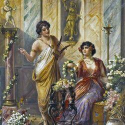 Пазл онлайн: Внутри римской виллы