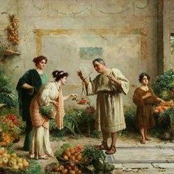 Пазл онлайн: Вор яблок