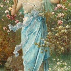 Пазл онлайн: В розовом саду