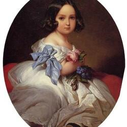 Пазл онлайн: Портрет юной принцессы