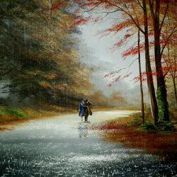 Пазл онлайн: Октябрьский дождь