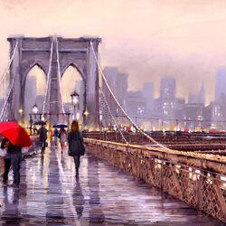 Пазл онлайн: Бруклинский мост