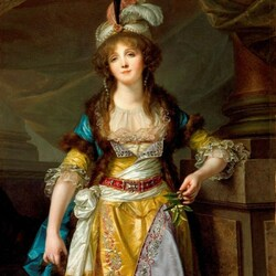 Пазл онлайн: Портрет леди в турецкой одежде