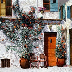 Пазл онлайн: Белый двор. Греция