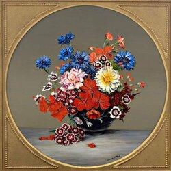 Пазл онлайн: Цветочный этюд