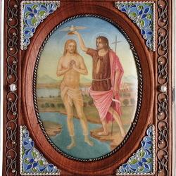 Пазл онлайн: Икона Крещение