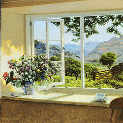 Пазл онлайн: Окно в лето