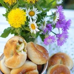Пазл онлайн: Колечки с цукини и перепелиными яйцами