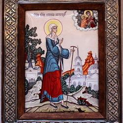 Пазл онлайн: Икона Ксения Петербуржская
