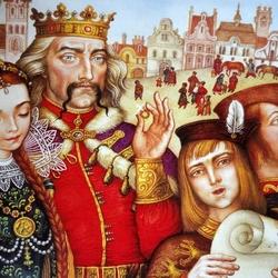 Пазл онлайн: Король и принцесса