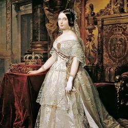 Пазл онлайн: Портрет королевы Изабеллы II Испанской