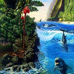 Пазл онлайн: Тропический остров