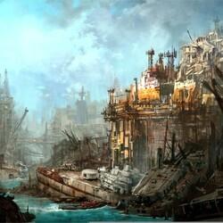 Пазл онлайн: Заброшенный порт