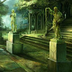 Пазл онлайн: В зеленой тени