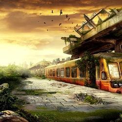 Пазл онлайн: На станции