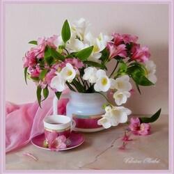 Пазл онлайн: Пусть нам дарят все цветы подряд