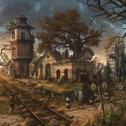 Пазл онлайн: Станция